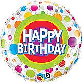 18' Happy Birthday Colourful Dots (each)