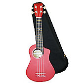 Bugs Gear Lorenzo Ukulele with Bag - Red