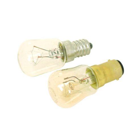 Clear 15W SBC B15 Lamp Light Pygmy Bulb 2-Pack
