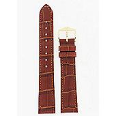 Hirsch Duke Mens Golden Brown Leather Watch Strap 01028070-1-18