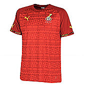 2014-15 Ghana Away World Cup Football Shirt - Red