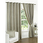 Vancouver Eyelet 90x72 Natural Lined Curtains