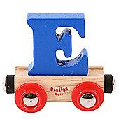 Bigjigs Rail Rail Name Letter E (Dark Blue)