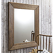 Gallery Wilbur Scalloped Mirror - Weathered