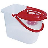 Tesco Basics Bucket With Red Wringer