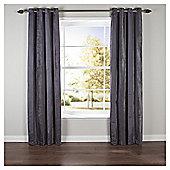 Chenille Stripe Eyelet Curtains W168x183cm (66x72''), Slate
