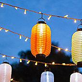Orange LED Solar Powered Hanging Chinese Lantern