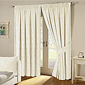 KLiving Turin Pencil Pleat Curtains 90x54 - Cream