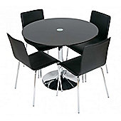 LEVV RDB-DCL10 Roma Black Dining Set