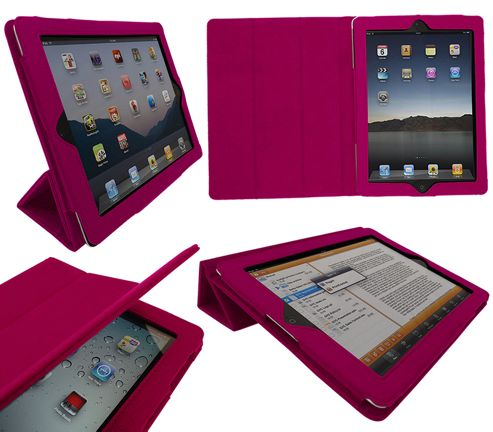 iTALKonline 19352 PadWear Executive Pink Wallet Case With TRI-FOLD SMART TILT For Apple iPad 2 (Wi-Fi and 3G)