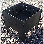 Made O'Metal Black Steel Interlocking Outdoor Garden Fire Pit Log Burner