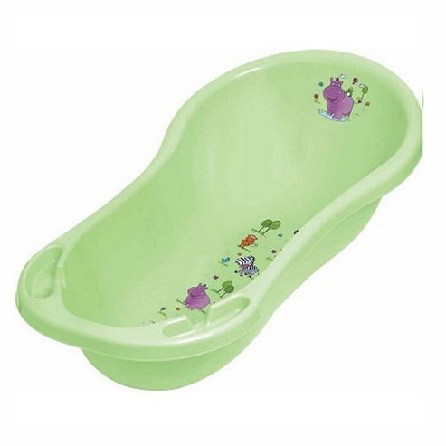 Hippo Baby Bath Tub Green