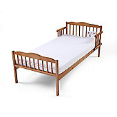 Poppys Playground Antique Pine Junior Toddler Bed Including Safety Foam Mattress