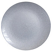 Tesco Christmas Silver Glitter Charger Plate