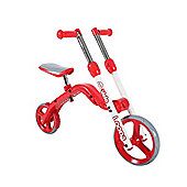 Yvolution Yvolution Y Velo 2-in-1 Loopa Balance Bike and Scooter - Red