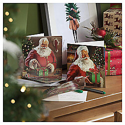 Traditional Santa Christmas Cards, 10 pack