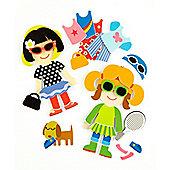 Meadow Kids Dressing Up Bath Stickers