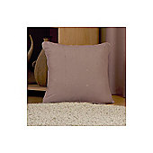 Dreams N Drapes Curtina Hudson Single Cushion Cover in Coffee