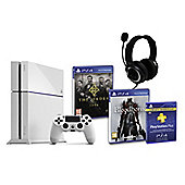 PS4 (White) With BloodBorne, The Order 1886, GP3 Headset, PSPlus (3Mth)