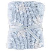 Tesco Baby Chenille Blanket, Blue