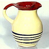 Cookware Essentials Terracotta Traditional Jug in Cream / Blue
