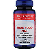 Higher Nature True Food Zinc 90 Veg Tablets