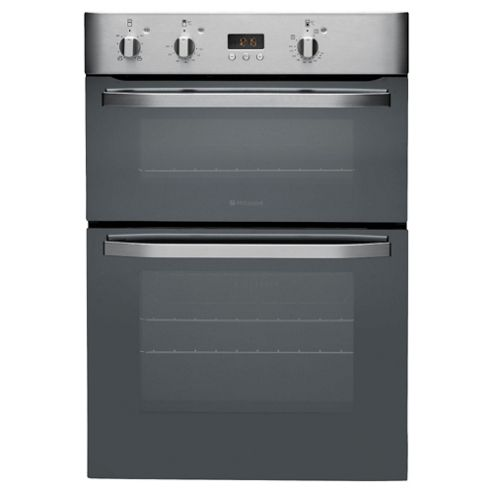 Hotpoint DHS53CXS, Stainless Steel, Electric Cooker, Double Oven, 60cm