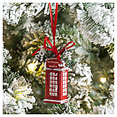 Weiste Red Telephone Box Christmas Tree Decoration
