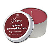 Prices Candle Tin Spiced Pumpkin Pie
