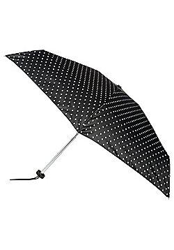Totes Polka Dot Print Bunny Case Umbrella - Black