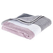 Tesco Colour Block Bath Sheet - Pink