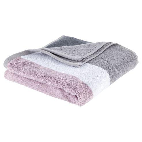 Tesco Colour block Bath Towel