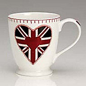Jan Constantine Union Jack Heart Design Tall Mug