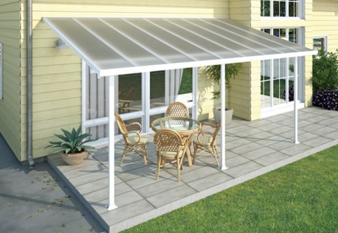Palram Feria Lean To Carport And Patio Cover 3X10.35 White