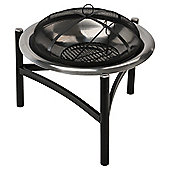 Tesco Round Stainless Steel Outdoor Fire pit
