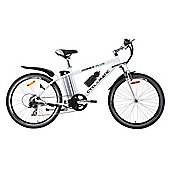 Cyclamatic Power Plus E-Bike Electric Mountain Bike with Lithium-Ion Battery, White