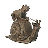 Parlane Frog on a Snail Ornament - 11.5cm