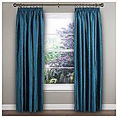 """Ripple Pencil Pleat Curtains W229xL229cm (90x90""""), Teal"""