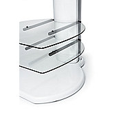 Off The Wall Origin II TV Stand - White / Clear glass