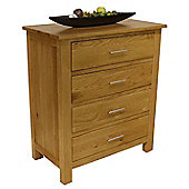 Oakland Chunky Oak 4 Drawer Chest Of Drawers