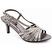 Ladies Emilio Luca X Cocktail Hour Pewter Party Sandals - Grey