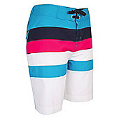 Striped Womens Boardshorts - Blue