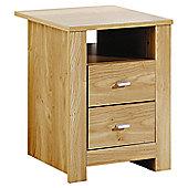 Elements Forest 2 Drawer Bedside Table - Oak