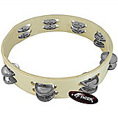 "Tiger 10"" Headless Double Row Tambourine"