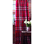 Catherine Lansfield Home Cosy Corner Kelso Cotton Rich Fully Lined Curtains Red 168cm wide x 183cm drop (66x72 inches) Red