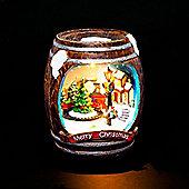Christmas Train Illuminated & Animated Barrel