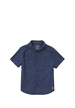 F&F Twin Pocket Short Sleeve Shirt - Navy