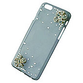 Tortoise™ Hard Decorative Protective Case iPhone 6 Diamante flower design-Clear