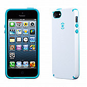 Speck iPhone 5 and iPhone 5s CandyShell White/Peacock Blue