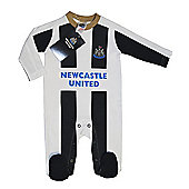Newcastle United Baby Sleepsuit - 2016/17 Season - White & Black